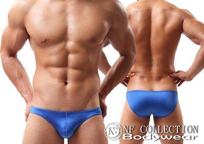 《NANNY_FENG》 男仕舒適低腰純色彈力性感三角版 3541寶藍色系(NEW)