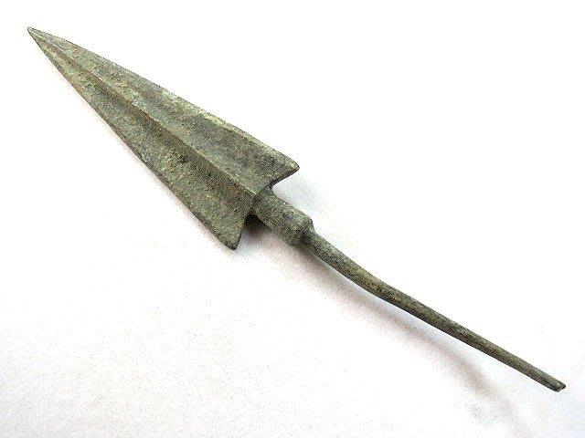 【 金王記拍寶網 】T891  出土文物 青銅器 青銅箭鏃 一支 罕見稀少