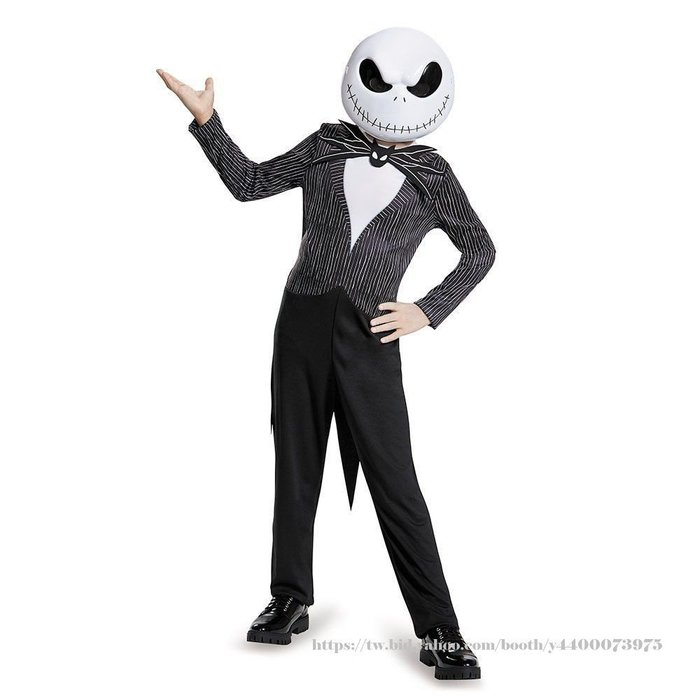 妍媽咪兒童禮服出租~Halloween 傑克Skellington大童連身迪士尼造型服~萬聖節表演遊行