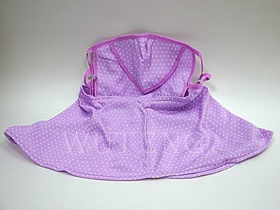薄超大護頸防曬口罩 遮陽防塵防紫外線口罩 遮臉防護面罩 透氣口罩 防曬口罩 防曬裙 ~WU TENG~ 防曬外套紫~