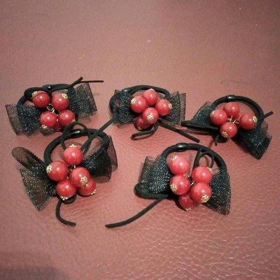 紅珠蝴蝶網結髮繩 基隆市