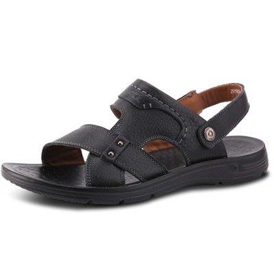 涼 鞋 真皮拖鞋-涼拖兩用透氣舒適男鞋子3色73sa8[獨家進口][米蘭精品]