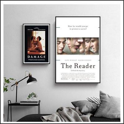 為愛朗讀 烈火情人 一樹梨花壓海棠 鋼琴師和她的情人 電影海報 藝術微噴 掛畫 嵌框畫 @Movie PoP 多款海報~