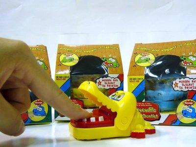 全新超可愛~ 拔牙鱷魚 玩具 鑰匙圈 - (黃)