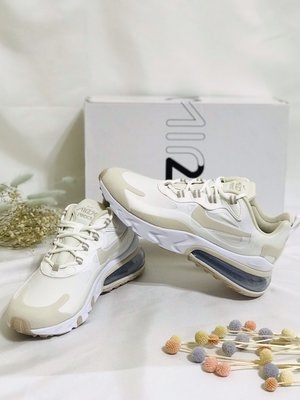 【E.D.C】NIKE AIR MAX 270 React 女款 米色 奶茶色 氣墊 休閒鞋 CJ0619-102