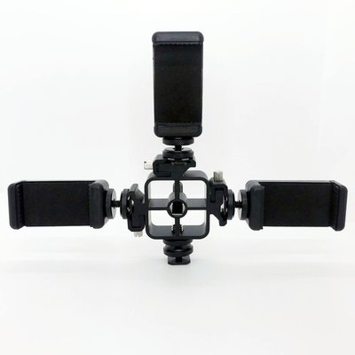 相機用品 三頭熱靴+熱靴螺絲+手機夾 攝影燈監視器支架手機平板取景器