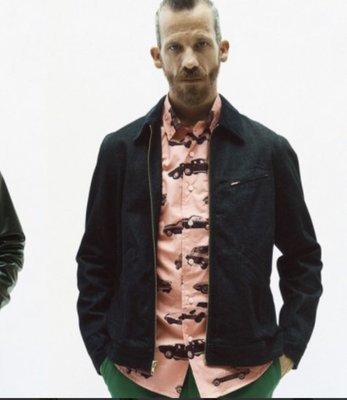 Supreme waxed zip work jacket 工作外套 size:s