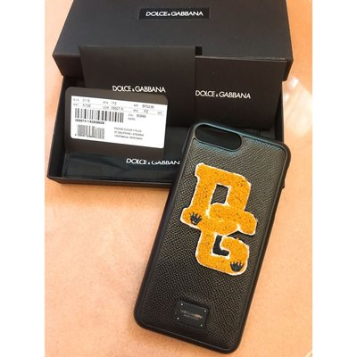 100%real 90%new Dolce & Gabbana iphone7 8 plus leather case lv ysl 名牌秋冬新款超型電話保護殻