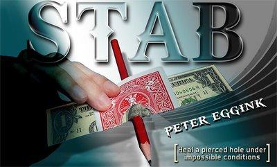 [魔術魂道具Shop]視覺的鈔票穿刺~~STAB by Peter Eggink