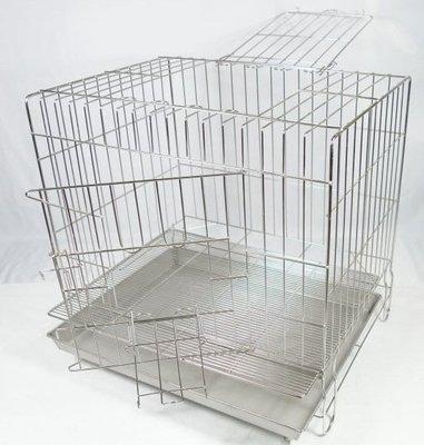 【優比寵物】2尺固定式(304#級)(附抽取式加粗加密底網)不銹鋼/不鏽鋼(雙門上掀)(抽取式底網)白鐵籠※優惠價※-