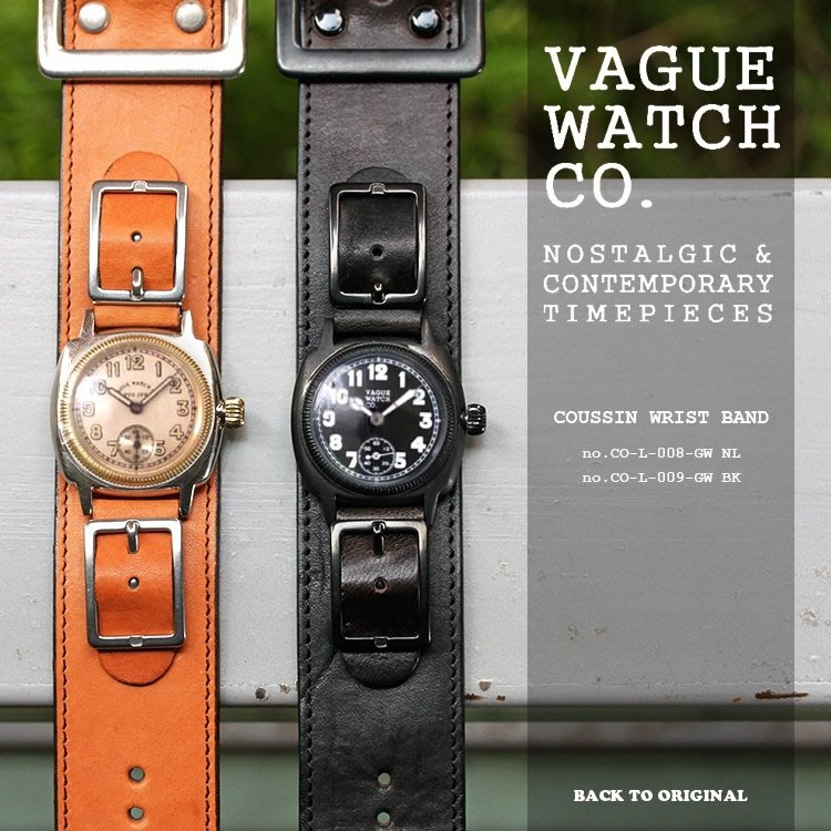 Back to Original 日本【Vague Watch Co.】VWC 1920s 復古手錶 復刻軍腕錶