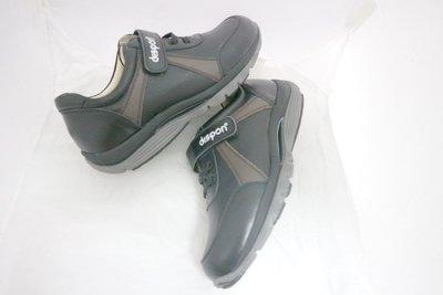 ☆地之柏- R406台灣製造  真皮氣墊 美姿健走鞋 機能健美休閒運動鞋 (特價) 黑 男款 39~44號