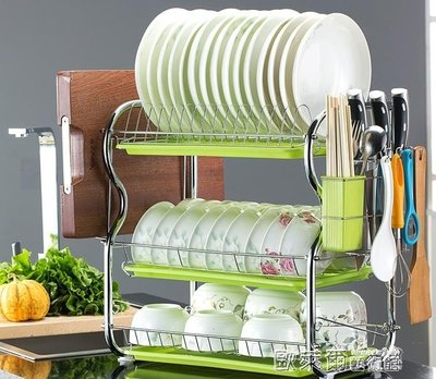 廚房便捷架  碗架瀝水碗碟盤子架刀架晾洗放碗櫃用品餐具碗筷收納盒廚房置物架 MKS
