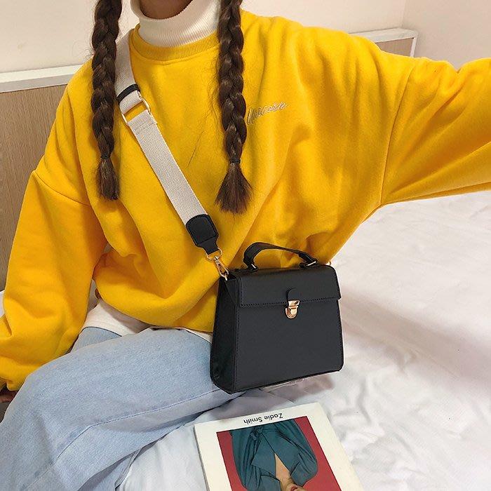 韓國百搭小方包新款單肩包純色氣質休閒手提包斜挎包小包包女包潮