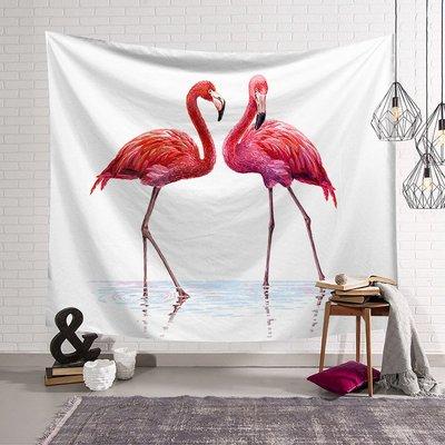 背景布 掛布 墻壁掛飾 背景墻 掛毯 北歐ins火烈鳥沙發巾墻面背景掛毯裝飾畫布壁毯墻壁毯藝術掛布
