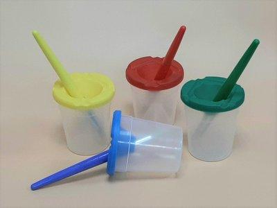 兒童 水彩筆 鬃毛筆  圓筆+洗筆杯 4套裝