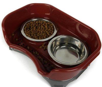 狗碗貓碗不銹鋼貓雙盆防濺整潔狗貓飯盆食盆