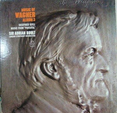 ***黑膠唱片 Boult - Music of Wagner vol.3 (Siegfried Idyll etc. 美Angel)