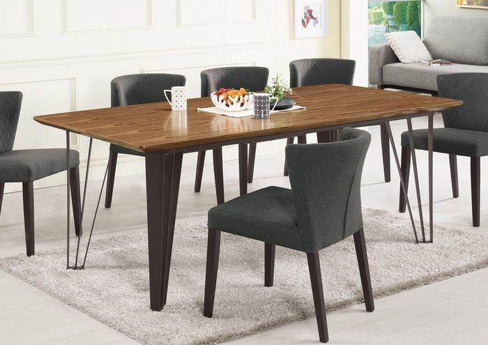 【NKD傢俱裝潢館 】里斯特6.6尺胡桃色餐桌(不含椅)  促銷價 $13400元 CM 934-2 $