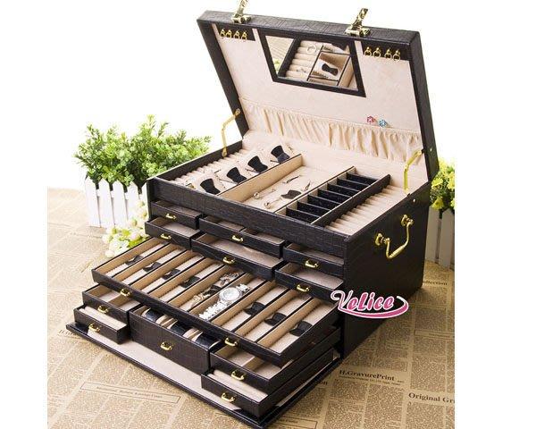 5Cgo【鴿樓】會員有優惠 14278789800 首飾盒 大碼化妝盒 精美飾品盒梳妝盒 結婚生日禮物 收納盒