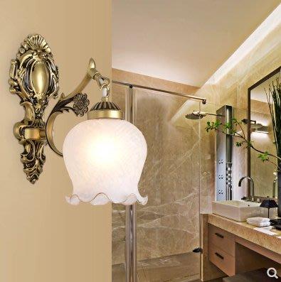 歐式壁燈臥室床頭燈簡約現代創意歐式美式客廳led樓梯過道燈 單頭