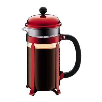 丹麥 Bodum 胭脂紅-1928-224 1L 8 cup CHAMBORD Coffee Maker 法式濾壓壺