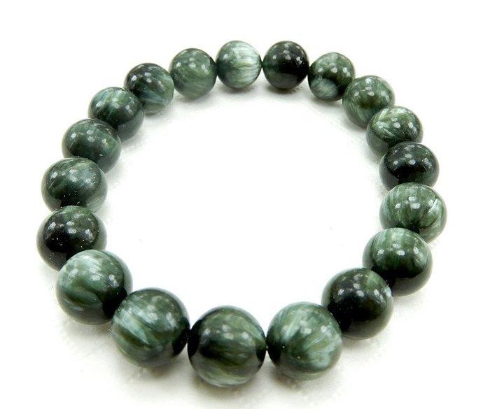 [天祥水晶]~天然綠龍晶手珠手鍊10mm圓珠~