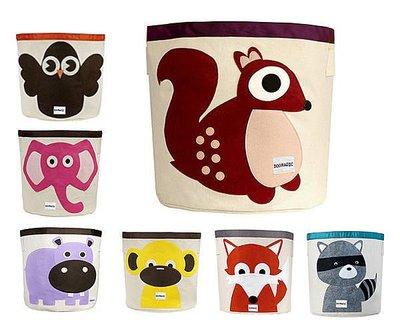 Doomagic 收納籃 動物貼布個性帆布儲物袋 容量收納袋