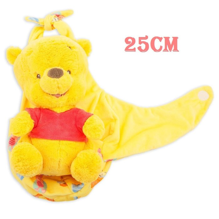 【美國大街】正品.美國迪士尼小熊維尼絨毛娃娃嬰兒維尼毛巾維尼 Winnie 10吋 / 25cm