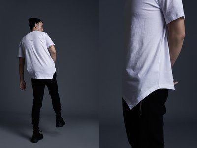 【MASS】BLACK FLAG 16'SS T-SHIRT MODELING  白色  M  XL