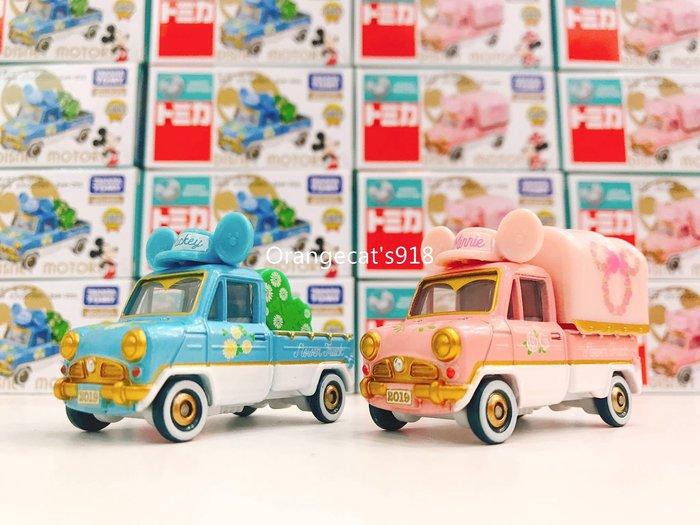 日本 7-11  限定 迪士尼 多美小車 春日限定  花季夢幻浪漫款 米奇米妮  多美小汽車 2台1套