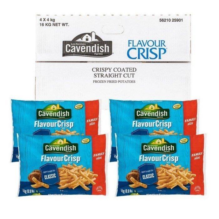 【小如的店】COSTCO好市多線上代購~Cavendish Farms 冷凍馬鈴薯條(4kgx4包)