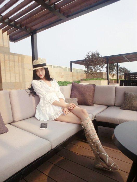[現貨] 韓國㊣訂單 甜美公主韓風時尚名媛宮廷蕾絲七分袖連身裙羅麗塔洋裝