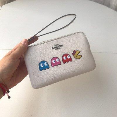 【八妹精品】COACH 73449 新款小精靈手拿包 零錢包 手機包  手腕包 錢包