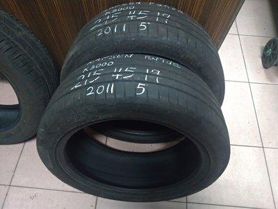 215 45 R 17 KAPSEN K3000 2020年製造 9成新 落地胎 二手 中古 輪 胎 一輪1300元