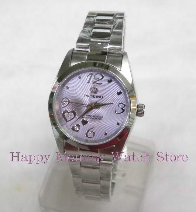 【幸福媽咪】網路購物、門市服務 PROKING 皇冠 日本星辰機芯 愛心滿滿 防水女錶 30mm 型號:4027