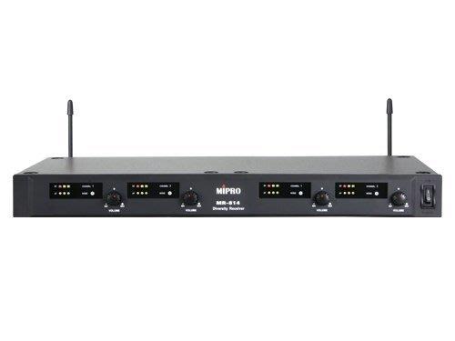 【昌明視聽】MIPRO MR814無線麥克風 附4支無線麥克風  UHF超高頻
