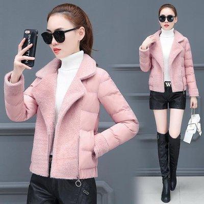 棉衣女短款外套2019冬裝新款韓版修身小個子輕薄羽絨棉服小款棉襖
