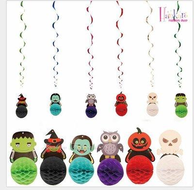 ☆[Hankaro]☆ 歐美創意萬聖節裝飾道具小惡魔系列拉花彩球(單顆)