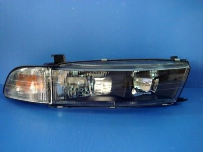小亞車燈╠ 全新三菱 GALANT 98 99 00年 galant 03年 日規 玻璃 大燈 加 角燈