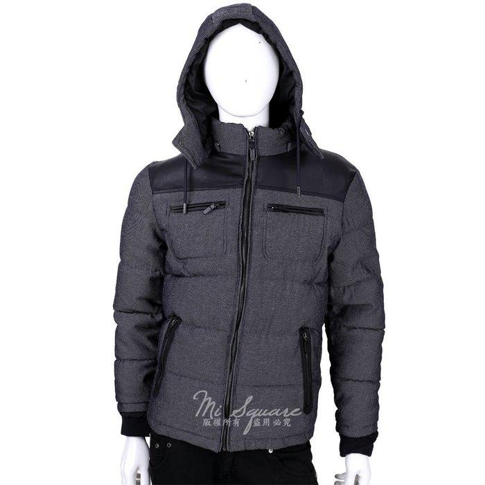 米蘭廣場ZARA 深藍色拼接設計連帽外套(帽可拆/男款/展示品) 1530034-34