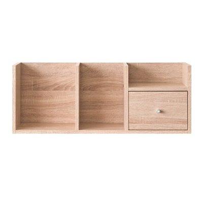 書櫃 收納櫃 桌上架【收納屋】優質堆疊收納架-淺橡木色&DIY家具TZ-L84AK