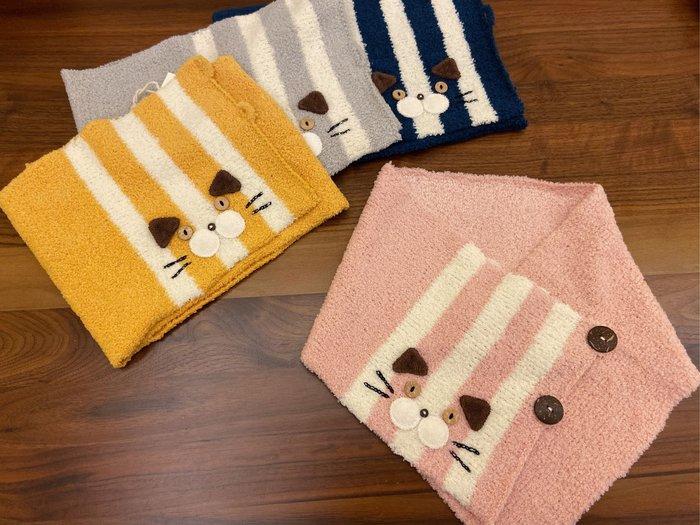 日本卡拉貓~腮幫子貓咪毛線圍巾 圍脖