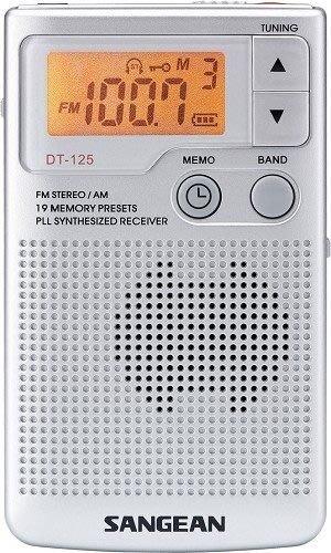 【免運費】SANGEAN山進二波段調頻立體 / 調幅 數位式口袋型收音機 DT-125