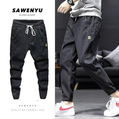 youth denim pant men straight casual jeans boys slim trouser