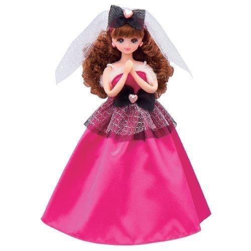 愛卡的玩具屋 ㊣莉卡娃娃台灣好朋友-薇琪娃娃婚禮禮服-桃紅 _ VI45638