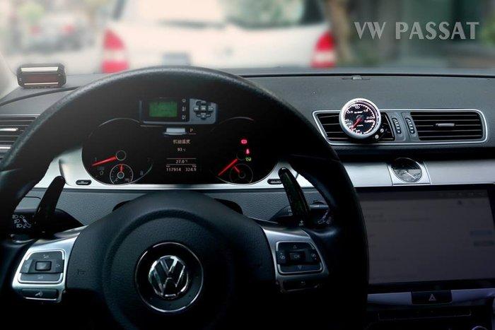 【精宇科技】VW PASSAT(B7) 52MM 專用 冷氣出風口渦輪錶