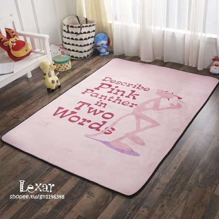 火爆全球的粉紅豹地墊系列來襲超柔短毛絨面料居家地墊客廳墊瑜伽爬行墊床墊頑皮豹