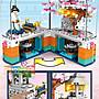 ◎寶貝天空◎【森寶 601077 旋轉櫻花盒】小顆粒,迷你街景,透明燈光轉盒,日本櫻花系列,可與LEGO樂高積木組合玩