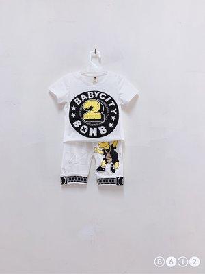 『ETS童裝』6個月-4歲小童純棉夏季兩件式短袖套裝-全店$240/1,$590/3 ,860/5 , 價錢已包含運費